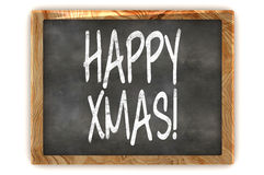 Blackboard Happy Xmas Royalty Free Stock Photography