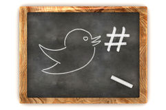 Blackboard Hashtag Social Media Stock Images