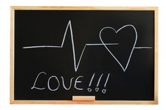 Blackboard and heart Royalty Free Stock Images