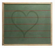 Blackboard and heart shape Stock Images