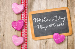 Blackboard with hearts Royalty Free Stock Image