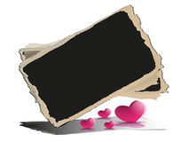 Blackboard with hearts. Stock Image