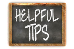 Blackboard Helpful Tips Stock Image