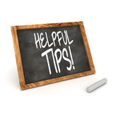 Blackboard Helpful Tips Stock Photography