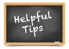 Blackboard Helpful Tips Royalty Free Stock Photography