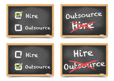 Blackboard Hire Outsource Stock Photo