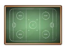 Blackboard hockey Stock Photography