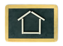 Blackboard home concept Stock Images