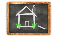 Blackboard House Stock Images