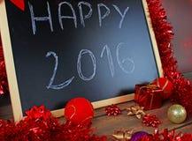 Blackboard i boże narodzenie dekoracja Zdjęcie Stock