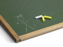Blackboard i kija mężczyzna Fotografia Royalty Free