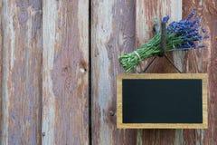 Blackboard i lawenda Obrazy Stock