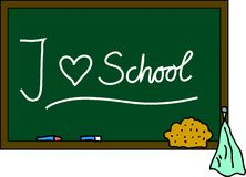 Blackboard I love school Stock Image