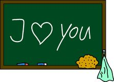 Blackboard I love you Stock Photography