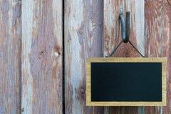 Blackboard i stare deski Obrazy Royalty Free