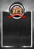 Blackboard for Ice Cream Menu Royalty Free Stock Images