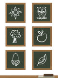 Blackboard icons Stock Images