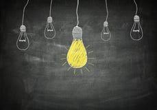 Blackboard idea concept Stock Image