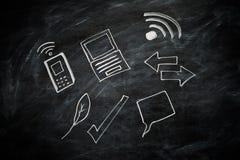 Blackboard ikony Zdjęcie Stock