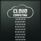 Blackboard with image of cloud computing Royalty Free Stock Photo