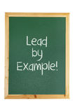 Blackboard with Inspiration Message. On White Background Stock Image