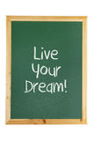 Blackboard with Inspiration Message. On White Background Royalty Free Stock Photography