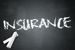 Blackboard Insurance Royalty Free Stock Photo
