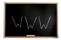 Blackboard and internet Stock Images