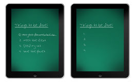 Blackboard on iPad Stock Photos