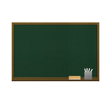 Blackboard isolated for education in school of paper illustratio Stock Photography