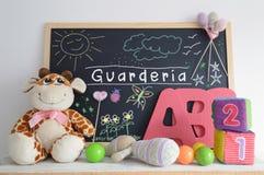 Blackboard in a kindergarten classroom. Stock Image