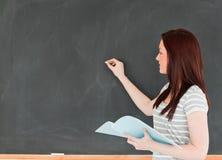 blackboard kobiety writing potomstwa fotografia royalty free