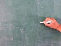 Blackboard kreda i gumka Obraz Stock