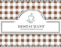 Blackboard lace menu restaurant coffee Royalty Free Stock Photos
