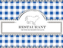 Blackboard lace menu restaurant cow bull Royalty Free Stock Photography