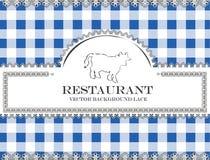 Blackboard lace menu restaurant cow bull Royalty Free Stock Photography