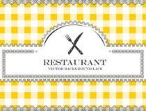 Blackboard lace menu restaurant cutlery Stock Photos
