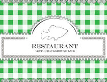 Blackboard lace menu restaurant fish royalty free illustration