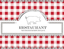 Blackboard lace menu restaurant pig Stock Photography