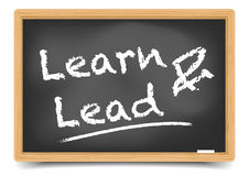 Blackboard Learn and Lead Royalty Free Stock Photos