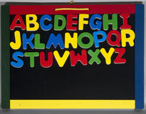 A blackboard with the letters of the alphabet Royalty Free Stock Photography
