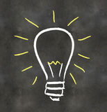 Blackboard Light Bulb Royalty Free Stock Image