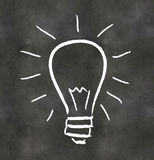 Blackboard Light Bulb Royalty Free Stock Photography