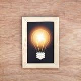 Blackboard with light bulb Stock Photos