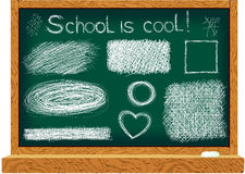 Blackboard with line drawings Stock Photography