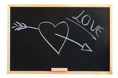 Blackboard and love Royalty Free Stock Photo