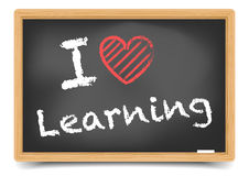 Blackboard love learning Stock Image