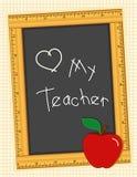 blackboard love my teacher Arkivbilder