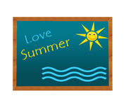 Blackboard with Love Summer image Stock Photos