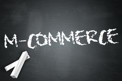 Blackboard M-Commerce. Blackboard with M-Commerce wording Royalty Free Stock Image